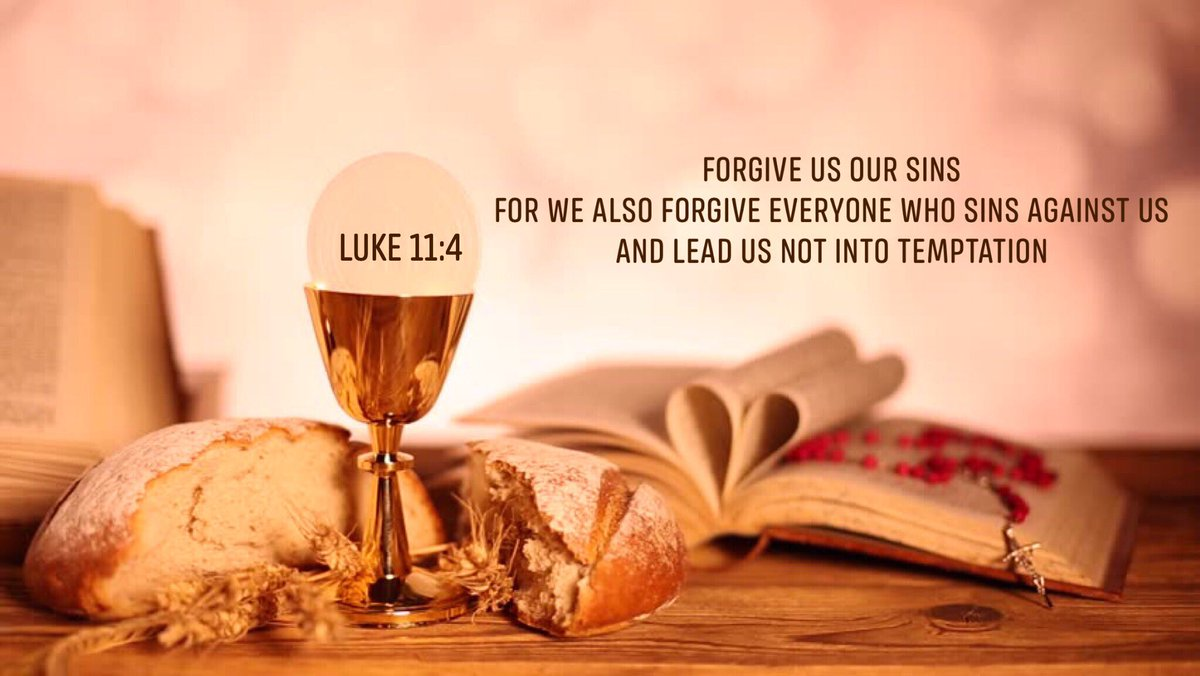 Forgive us our sins, for we also forgive everyone who sins against us.And lead us not into temptation Luke 11:4<br>http://pic.twitter.com/KgRlU0QUyr