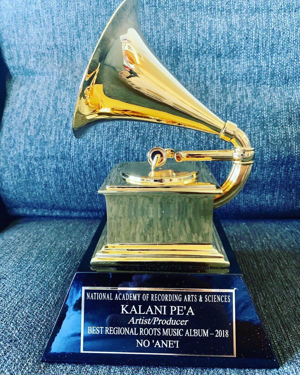 Look what came in the mail! My second #GRAMMYs Award from the @RecordingAcad 😱😩💜🏆💥 #HawaiianMusic j.mp/2RKRjdi -