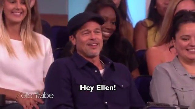 When Brad Pitt is in your audience...