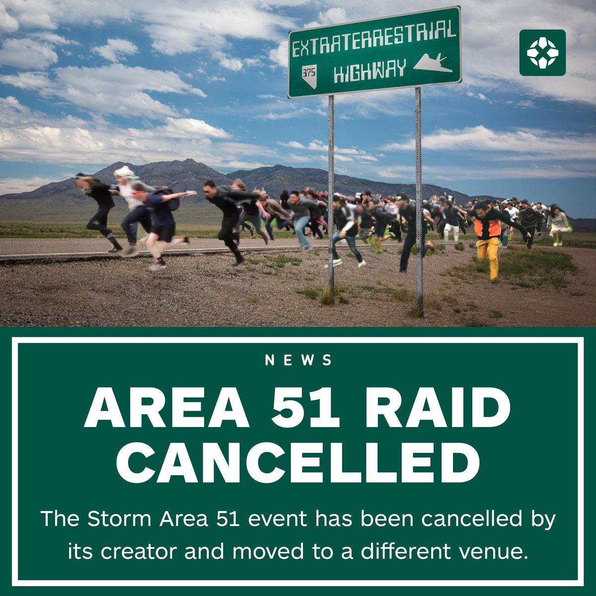 The event was set to potentially see thousands of people Naruto run to Nevada's Area 51 facility in hopes of finding alien life. <br>http://pic.twitter.com/z0s2o4v25U