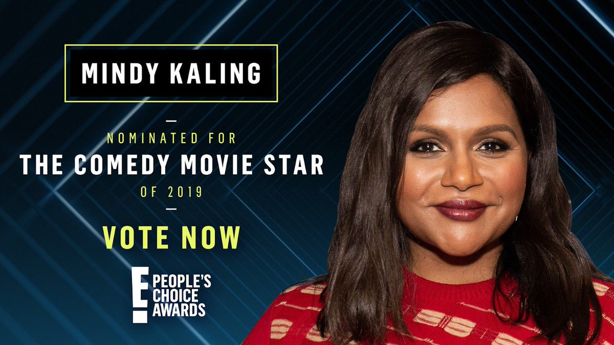 Thanks @peopleschoice for nominating me for @LateNightMovie!! 😆 You can vote for me here: https://pca.eonline.com?source=talent-social-promo&cmpid=nominee-2019-mindy-kalingpca.eonline.com/?source=talent …