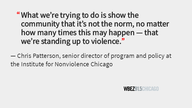 After a pregnant 18-year-old was killed in Back of the Yards last weekend, nonviolence groups barbecued and set up bouncy houses to bring the community together and show that the neighborhood would not be defined by violence. http://ow.ly/Ft4n30pwMDy