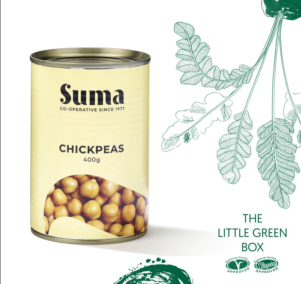Our #LittleGreenBox is being sent to thousands of students across the UK during #FreshersWeek2019. The box includes a tin of tasty @SumaWholefoods chickpeas so you can grab the last couple of tomatoes in the fridge and cook up a veggie feast! 🍴