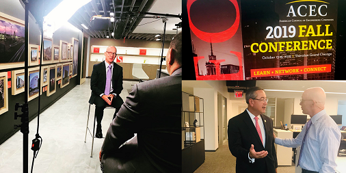 Fun day at #WSPUSA's #NewYork office: @ACEC_National went behind the scenes w/our very own Greg Kelly a recipient of the 2019 Chair Emeritus Award. Thanks #NYC office, Jerry Jannetti, Marc Antoine-Grondin, Minah Le, Eric Tauro for your assistance! #ACEC2019Chicago #newofficespace <br>http://pic.twitter.com/XeMNuhCWdo
