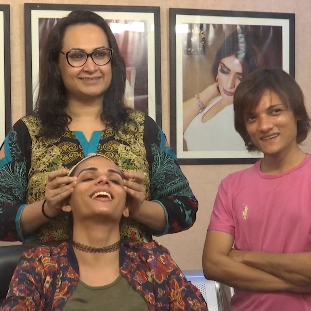 This transgender woman from Pakistan couldnt get a beauty salon appointment - so she opened her own.
