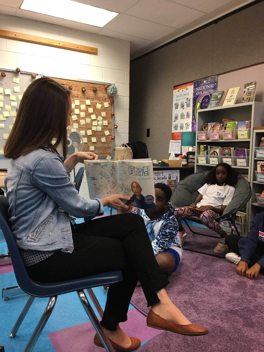 Everyone can enjoy a good picture book. Thanks Ms. McCormick for sharing Bird by Zetta Elliot today. <a target='_blank' href='http://search.twitter.com/search?q=GunstonPRIDE'><a target='_blank' href='https://twitter.com/hashtag/GunstonPRIDE?src=hash'>#GunstonPRIDE</a></a> <a target='_blank' href='https://t.co/VLyfDc1swA'>https://t.co/VLyfDc1swA</a>