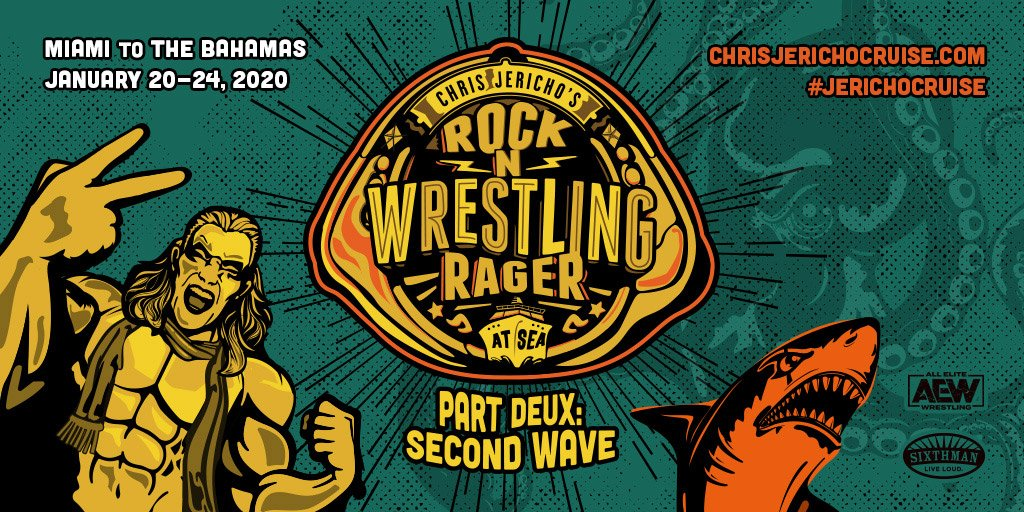 "Chris Jericho Announces Sell Out For His Second ""Rock 'n' Wrestling Rager At Sea"" Cruise, Line-Up"