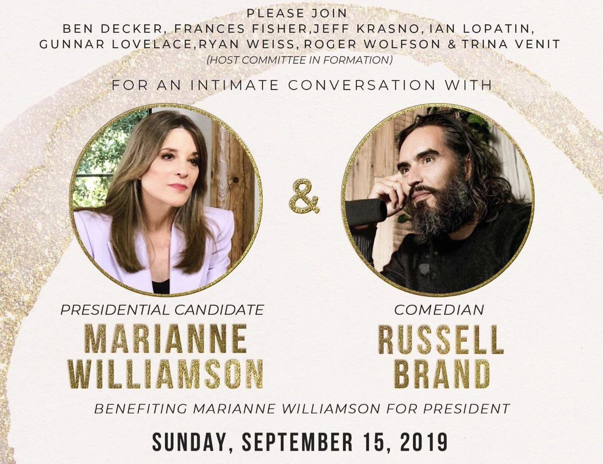 My fundraiser in Los Angeles this Sunday, September 15th will feature a meaningful conversation between myself and special guest @rustyrockets. Thank you for all your support! Get your tickets here: secure.actblue.com/donate/mw9.15.…