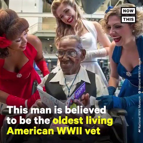 Lawrence Brooks, who's believed to be the oldest living American WWII vet, just turned 110 years old