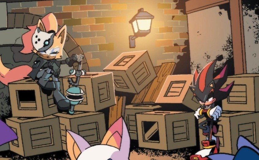 Kunle Sanders On Twitter Shadow The Hedgehog And Whisper The Wolf From Sonic The Hedgehog Series