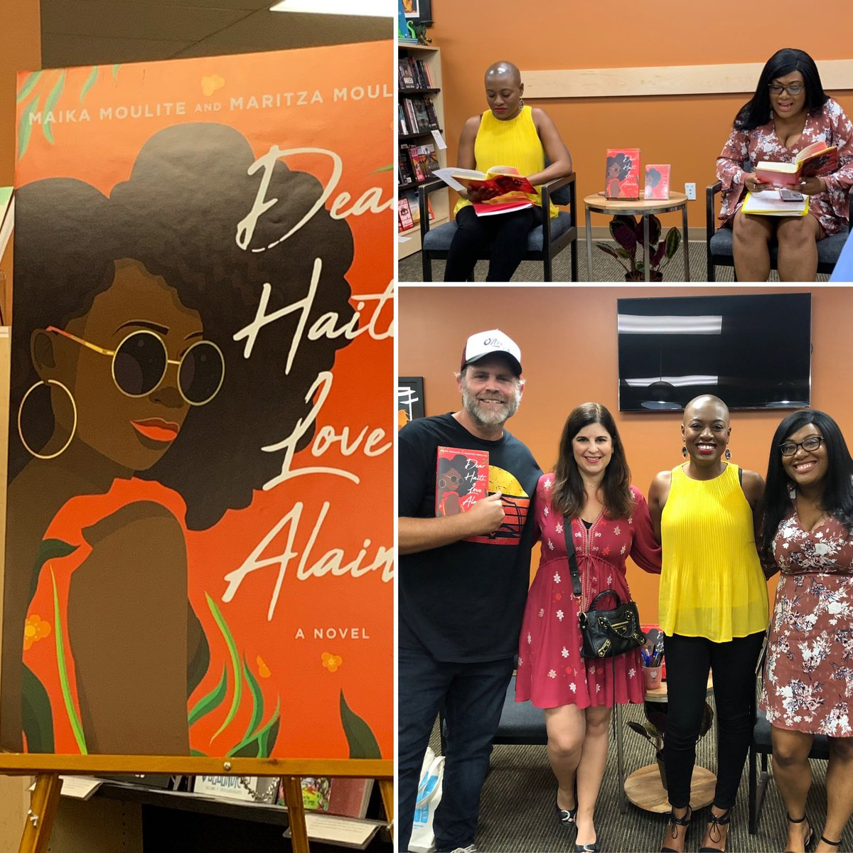 So much fun with @MaritzaMoulite and @maikamoulite celebrating Dear Haiti, Love Alaine at @MystGalaxyBooks and even more fun when @baronchrisbaron shows up!