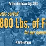Image for the Tweet beginning: Last year, during Anthem Volunteer