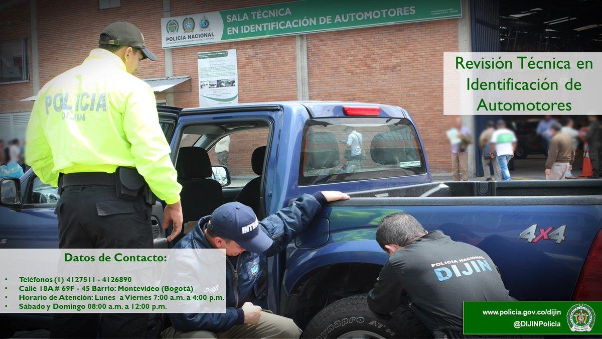 Si necesita asesoría de trámites ante organismos de tránsito en los que se requiera la Revisión Técnica en Identificación de Automotores, solicite información al personal experto de @DIJINPolicia #ConsultaCiudadana