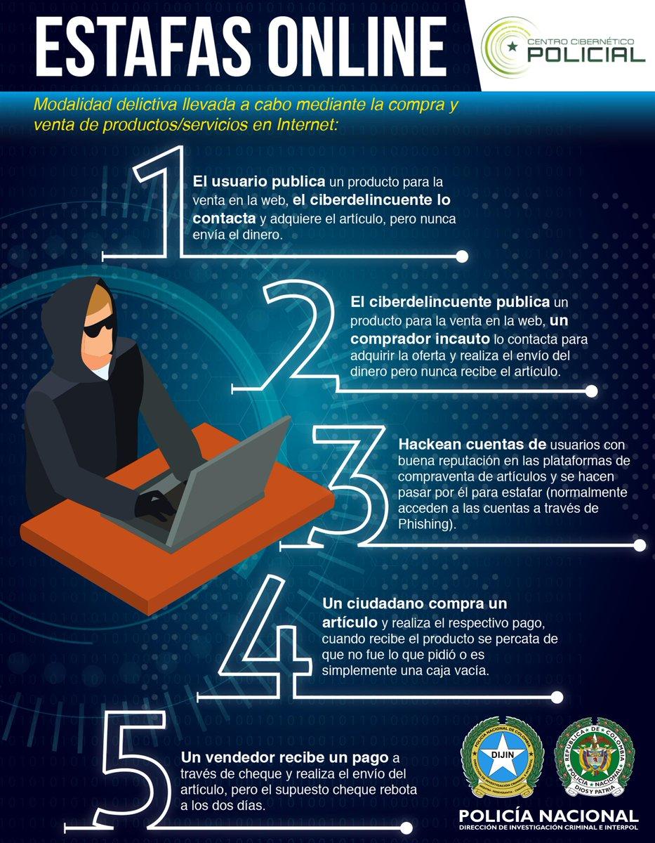 Si conoce fraudes o estafas vía Internet denuncie en @CaiVirtual o https://caivirtual.policia.gov.co/  #SeguridadDigital