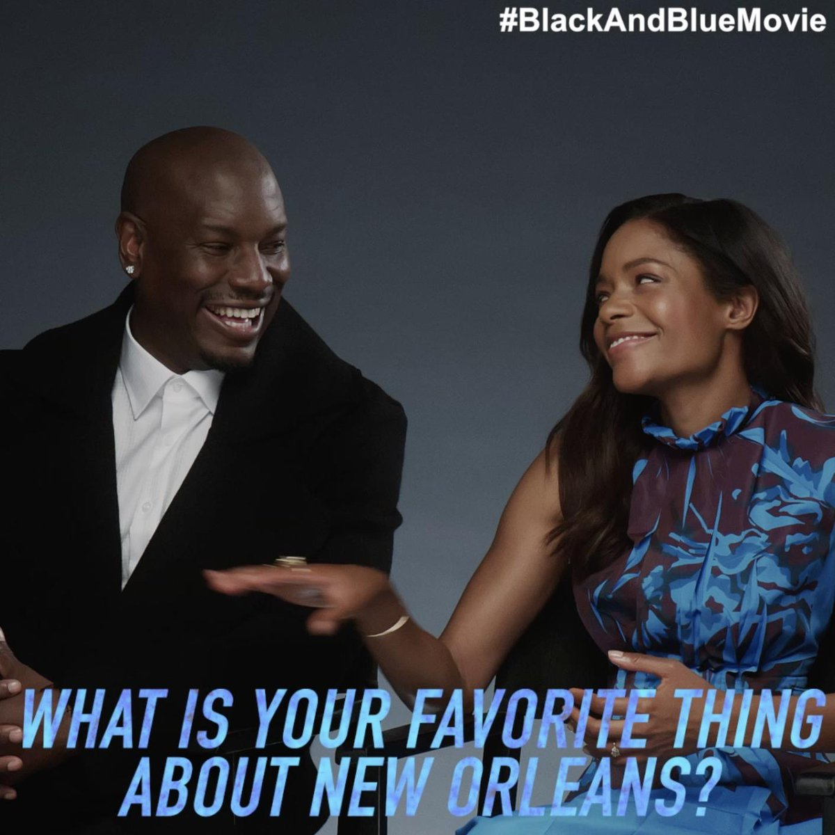 It's time for a Rapid-fire Q&A with @BlackBlueMovie's @NaomieHarris and @Tyrese - watch now. 💥