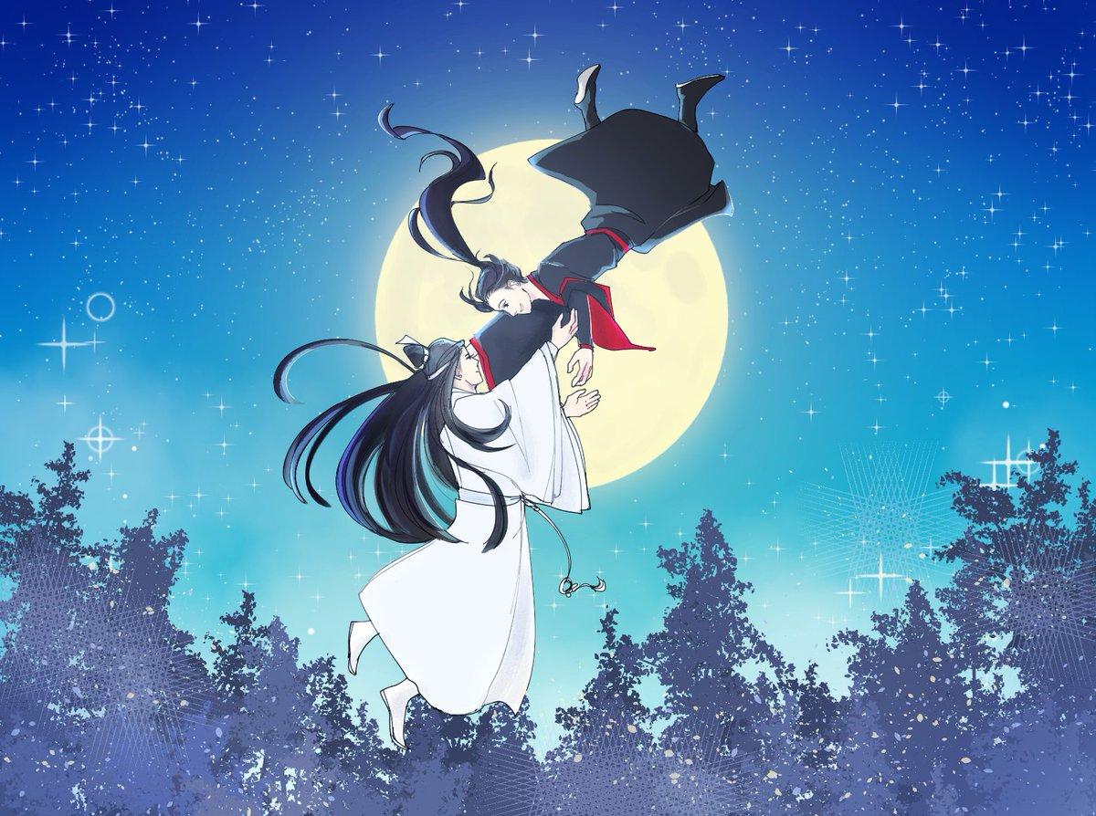 🌙 Fly me to the moon~🌙 Happy mid-autumn festival! 🥮🥮 #墨香铜臭 #MoDaoZhuShi #WangXian