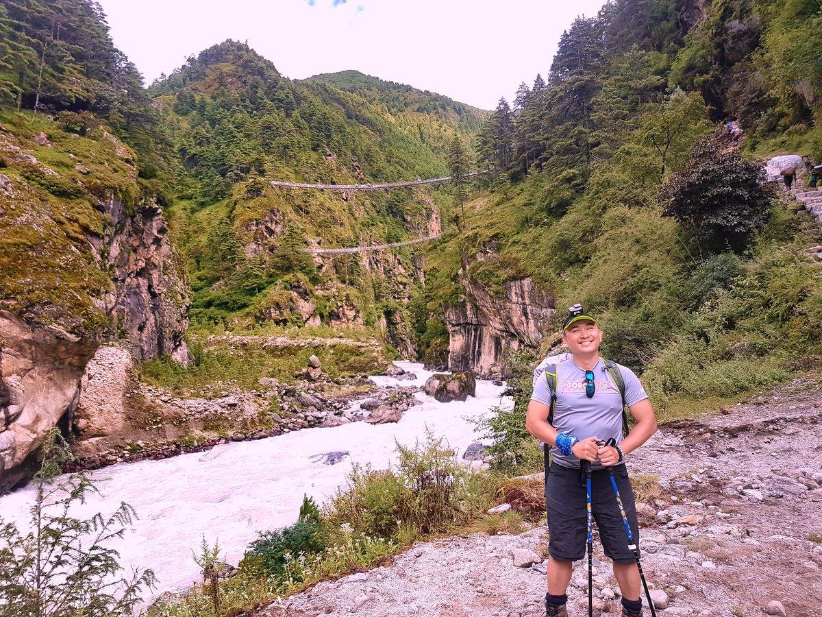 The highest bridge before climbing to Namche bazaar..http://frolicadventure.com/everest-base-camp-trek…. #nepal #everestbasecamp #trekking #travel #mountains #everest #himalayas #nepalguideinfo #ebc #trek #adventure #everestbasecamptrek #travelnepal #frolicadventure #landscape #mteverest #hiking