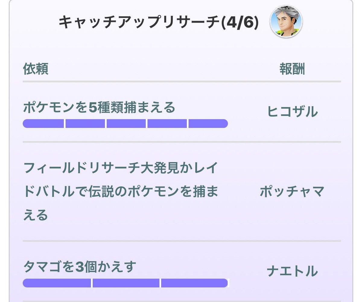 アップ キャッチ リサーチ go ポケ 【ポケモンGO】キャッチアップリサーチまとめ