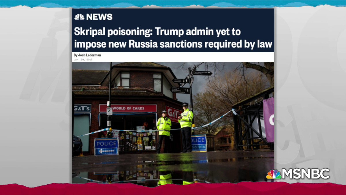 It was only after a round of critical reporting earlier this summer made clear that although the the Trump administration had announced those sanctions as a response to the Skripal assassination attempt they'd never actually put them into practice. https://t.co/ospFfIrvhA