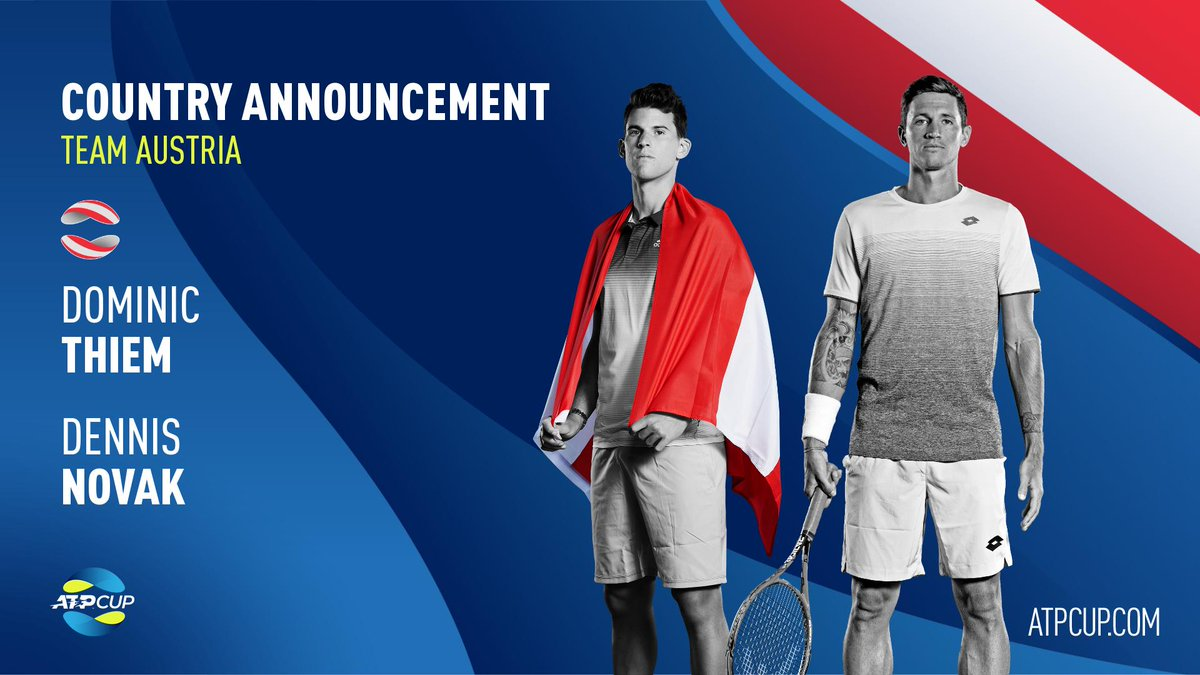 This will be great fun 😄  Can't wait to represent Austria at the #ATPCup  @ATPCup | #TeamAustria https://t.co/9K8DBIQi33