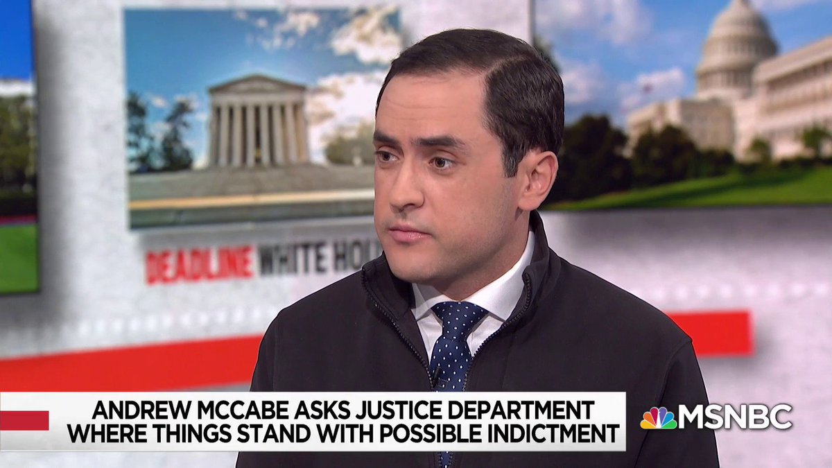 """What we're seeing here is the problems with the politics that the president has created around the investigation... There is a perception issue here when the president has been so vocal... that he wants this person to be prosecuted"" - @nytmike w/ @NicolleDWallace https://t.co/MxhjSIy7yk"