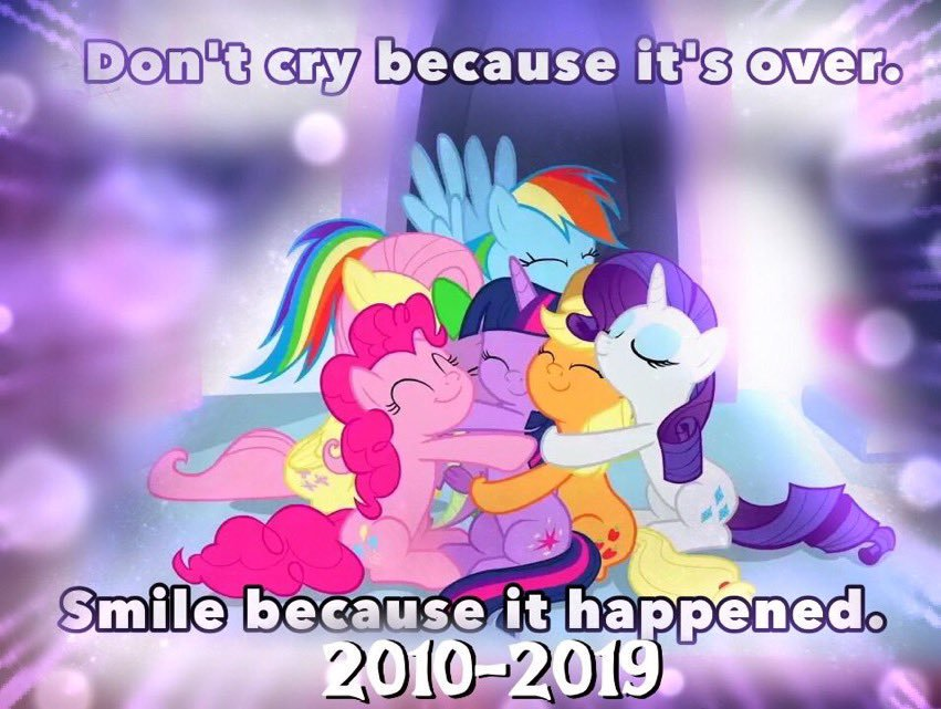 #mlp #brony Yea, the show is over. But... NOT FOR US! We will still be here   https:// twitter.com/EquestriaDaily /status/1172492525875146754  … <br>http://pic.twitter.com/y2ufZBVqq8