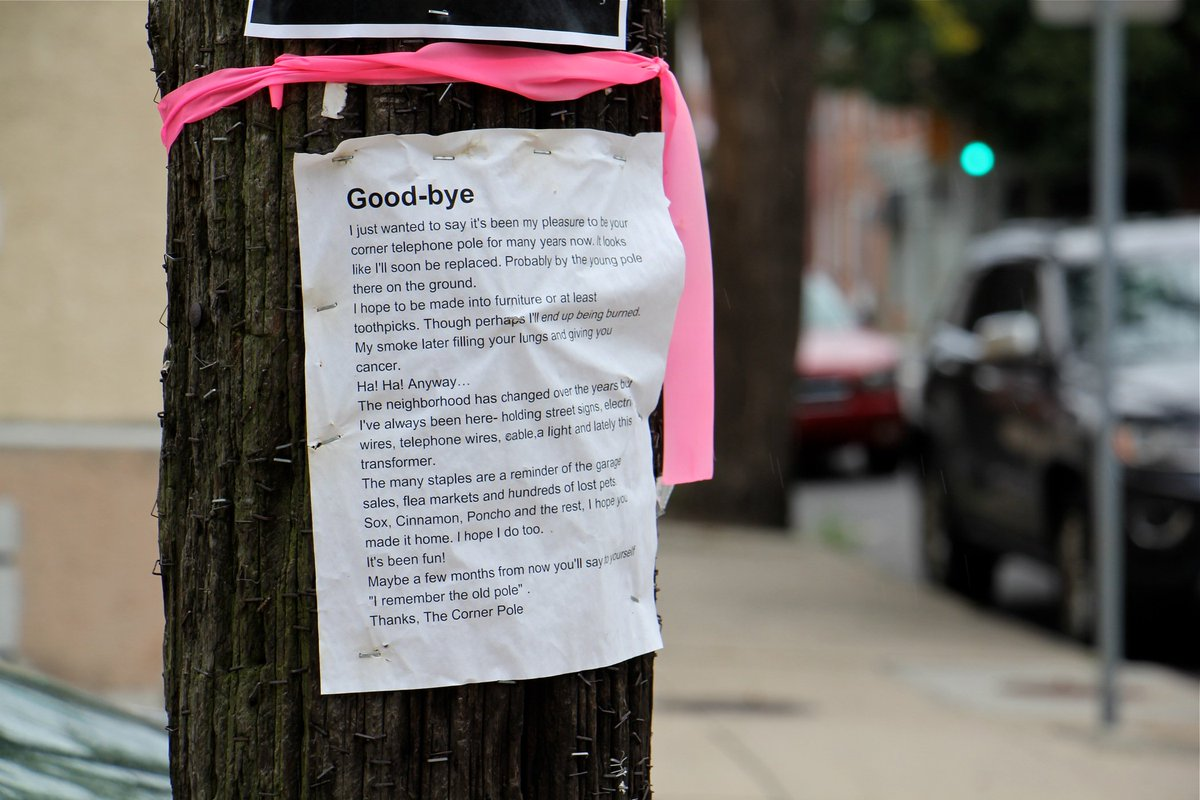 Viral South Philly utility pole to be reborn as green fuel dlvr.it/RD3nkd