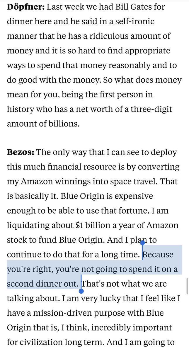 what's it like to be Jeff Bezos I wonder
