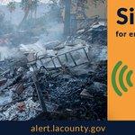 Image for the Tweet beginning: Register at Alert LA County