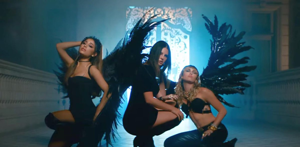 Ariana Grande, Miley Cyrus, Lana Del Rey Don't Call Me Angel Music Video