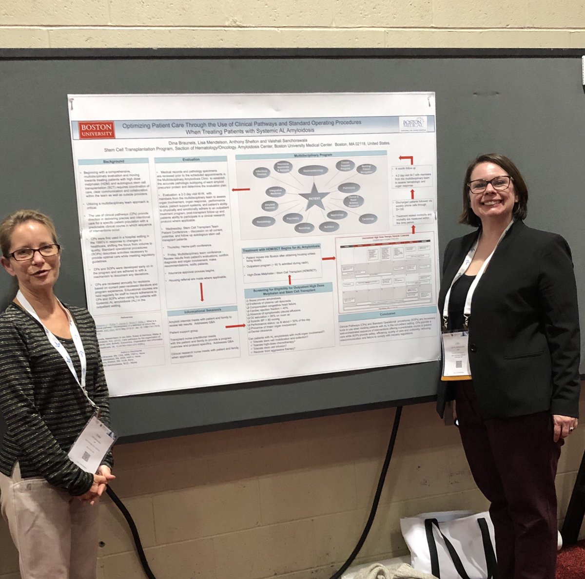 Poster presentation about SOPs And clinical pathways on patients with systemic AL Amyloidosis @BU_Amyloidosis @lis589 @DinaBrauneis