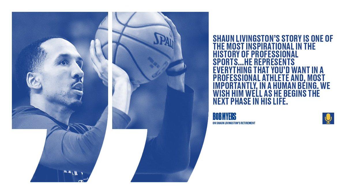Great baller. Even better human. Thank you, @ShaunLivingston 👏