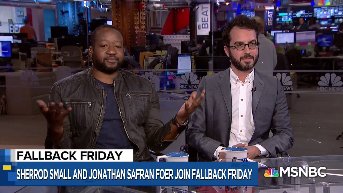 .@Sherrod_Small and Jonathan Safran Foer on #TheBeat for #FallbackFriday