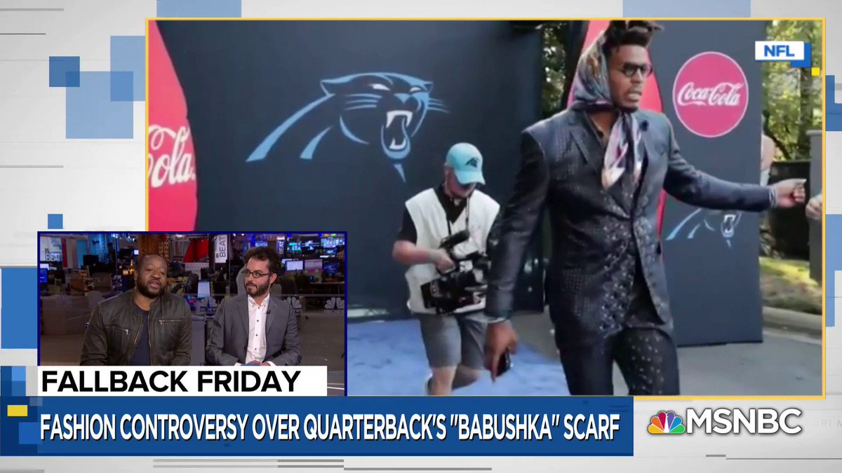 .@Sherrod_Small says Cam Newton's post game look needs to #fallback. on.msnbc.com/2kk662w