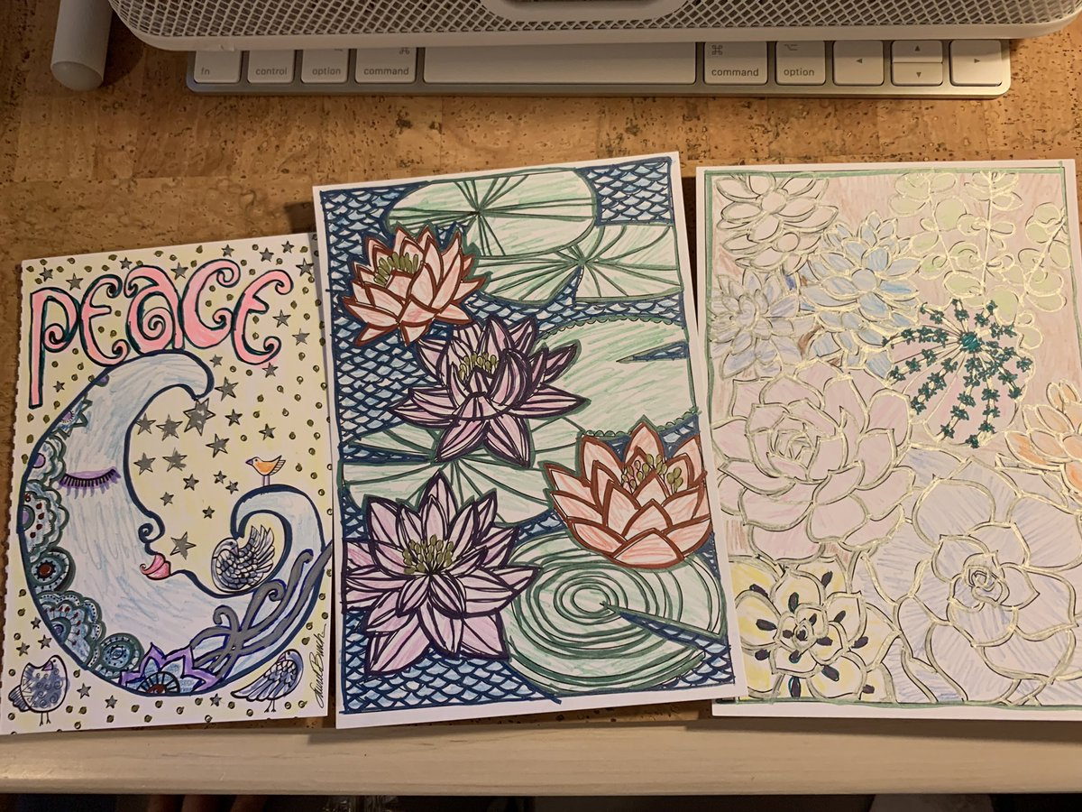 @Adamhill1212 Self-care - coloring. By myself. Processing ALL my thoughts. 🦋