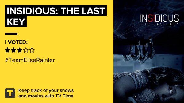 Insidious: The Last Key on #TVTime #InsidiousTheLastKey https://t.co/WB9BfRrMq9