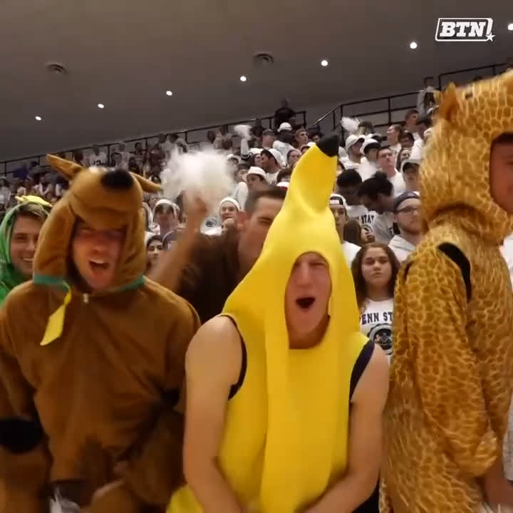 .@PennStateMVBALL brought their cheering A game tonight in support of @PennStateVBALL. 😂