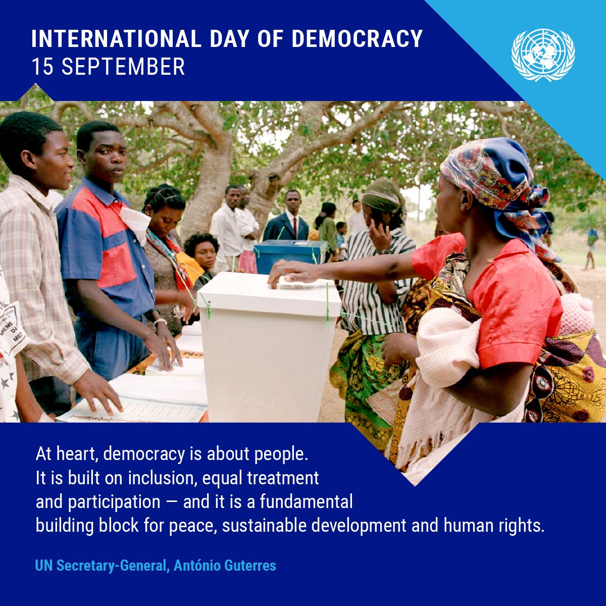 On Sunday's International #DemocracyDay, find out how the UN works around the  to support free and fair elections :  http:// bit.ly/1q5c0cI     <br>http://pic.twitter.com/7Ok9SciRDH