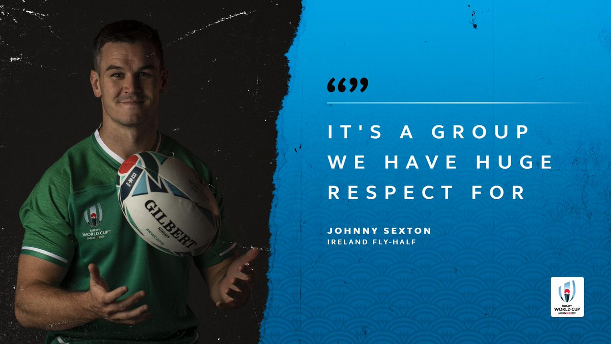 test Twitter Media - Johnny Sexton and @IrishRugby are not underestimating Pool A at Rugby World Cup 2019  #IREvSCO  #JPNvIRE  #IREvRUS  #IREvSAM https://t.co/uqiAeWlnHM