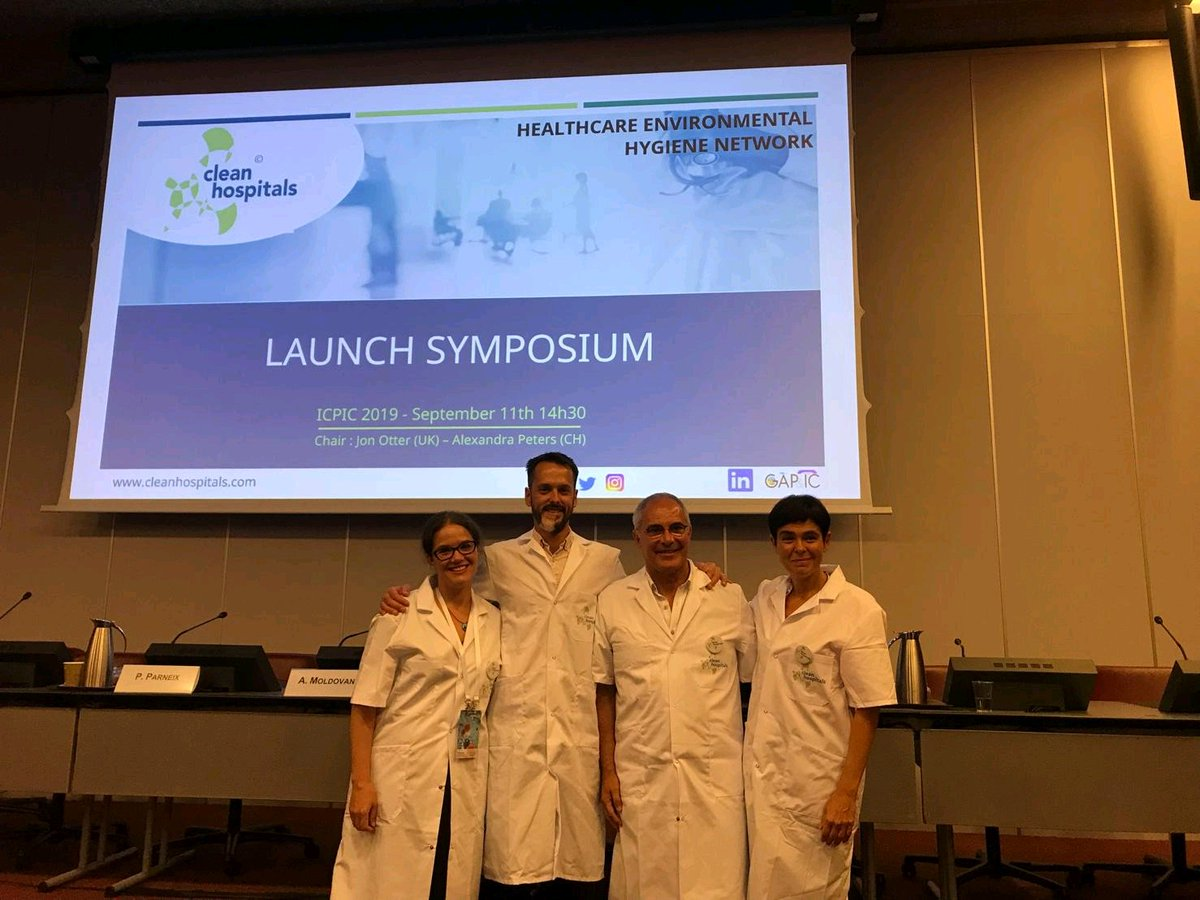 #ICPIC2019 What a privilege to share the stage with Andreea, Alexandra and @jonotter for the @Clean_Hospitals launching symposium. Very exciting project for the future of infection control. Thanks to all involved in around @DidierPittet<br>http://pic.twitter.com/PuRjQEJL0S