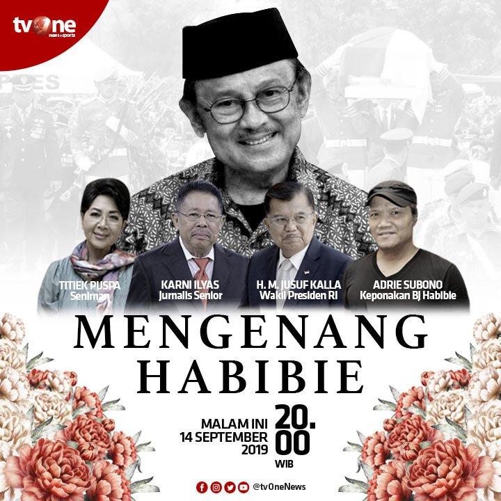 Saksikan kembali tayangan ulang program Spesial Mengenang Habibie, malam ini jam 20.00 WIB hanya di tvOne & streaming tvOne connect.#MengenangHabibie #tvOneNews #BJHabibie