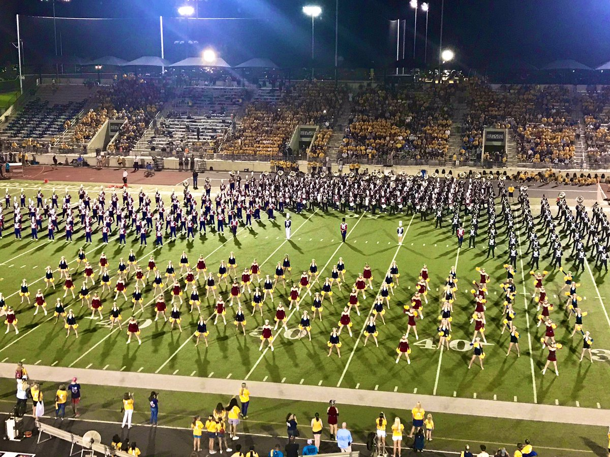 #GoldFightWin halftime was amazing! AHS and KHS bands and drill teams came together for an epic performance! <br>http://pic.twitter.com/KJXrD6F4jy