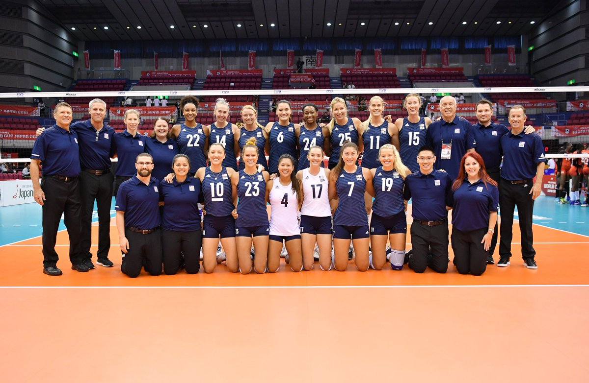 #USAVwnt opened the @FIVBVolleyball #FIVBWWCup by over-powering #Kenya 25-14, 25-20, 25-14 on Saturday in Hamamatsu, Japan. Four @teamusa players reached double-figure scoring led by Annie Drews with 14 points.Recap | https://go.usav.org/91419WNT