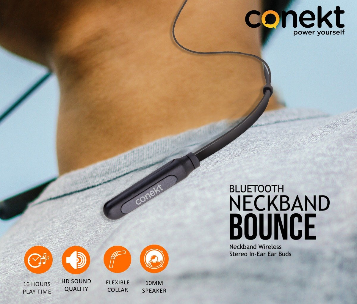 Stylish & Compact with HD Sound, Touch Controls only on Bluetooth Neckband BOUNCEExplore Our more Products http://www.conekt.in 👈👈👈For Buying Online https://tinyurl.com/y4qlnwyu 👈👈👈👈#Rohitsharma #Hitman #CWC19 #Worldcup19  #MobileGadgets #Conekt #Poweryourself