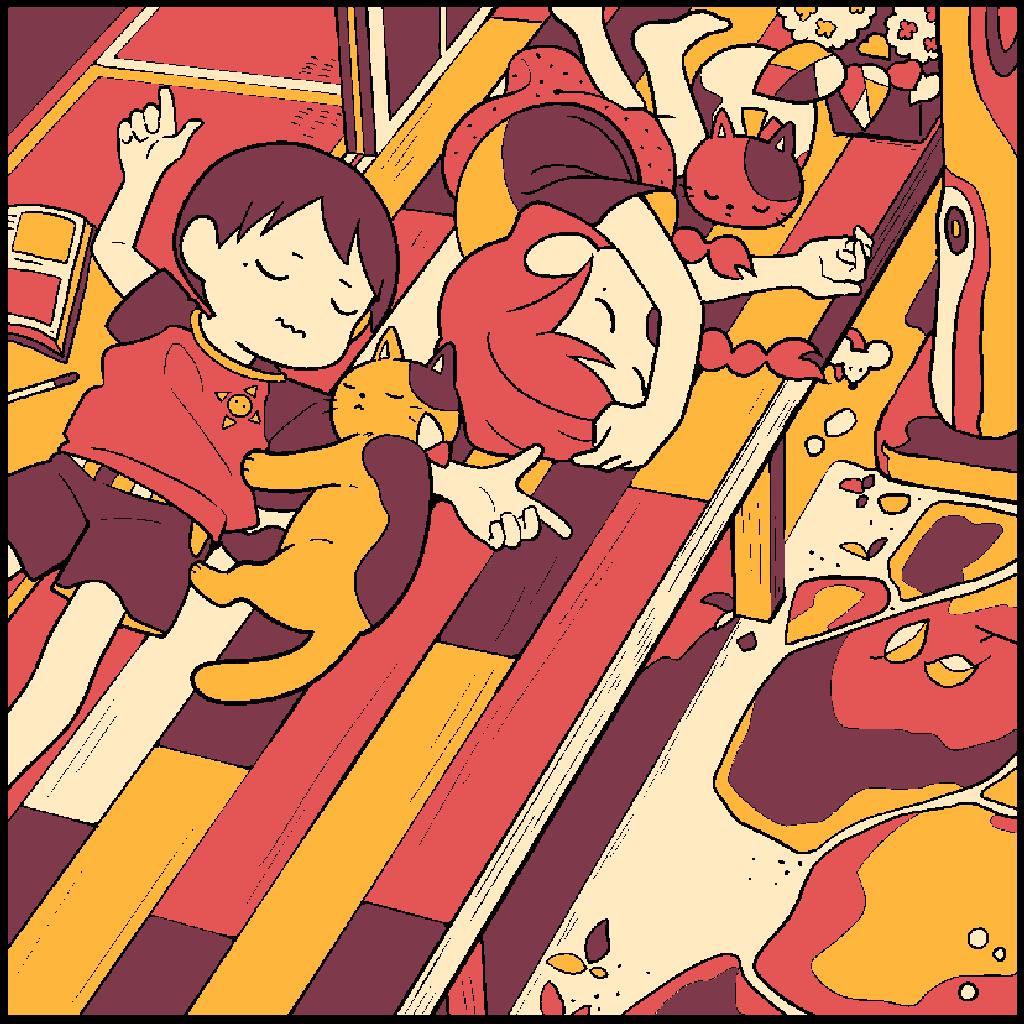 No.158 「ふたごのお昼寝」#塗り絵パズル