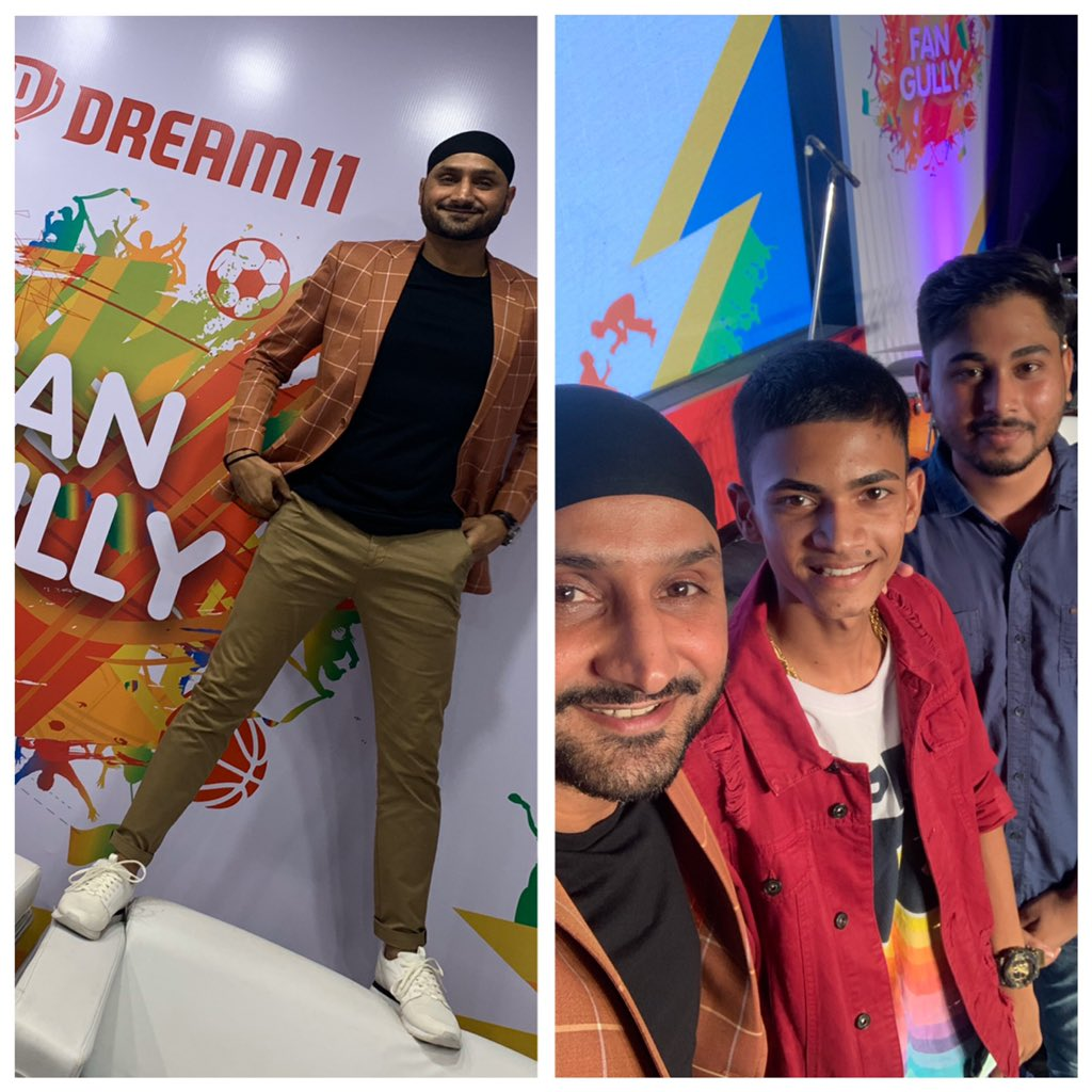 Having a great time with @Dream11 in Lucknow.Sharing the stage with the some of the best fantasy sport experts at  #FanGully2019. Follow @the_fancode now! 👍