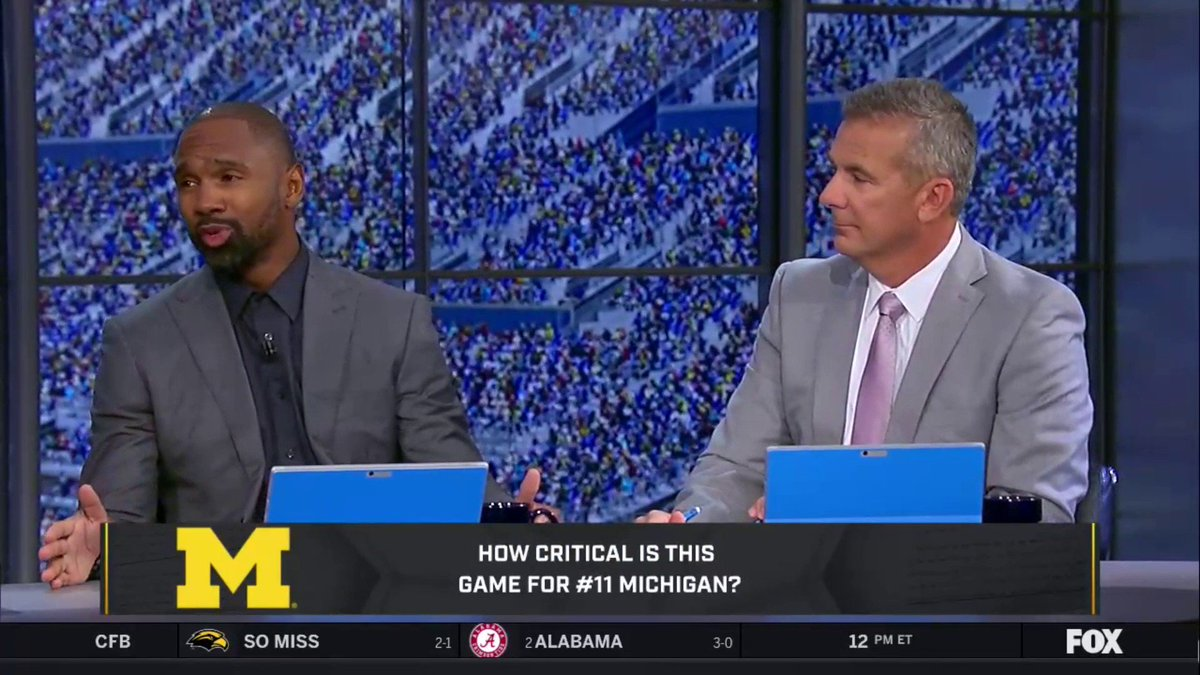 "Urban Meyer Calls Today's Game A ""Must Win"" For Michigan"