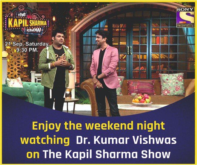 Enjoy the weekend night watching @DrKumarVishwas on #kapilsharmashow . <br>http://pic.twitter.com/ENzdmNcybG