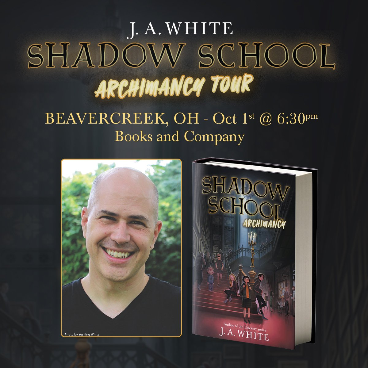 Get ready, #Beavercreek readers! SHADOW SCHOOL author @jawhitebooks is heading to Books & Co. at @The_Greene on 10/1 to launch his new series, and you wont want to miss it: ow.ly/myvK50wihjh