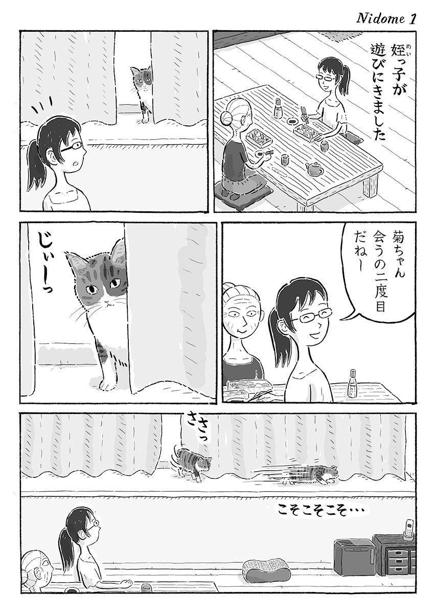 2ページ猫漫画「二度目に会うひと」
